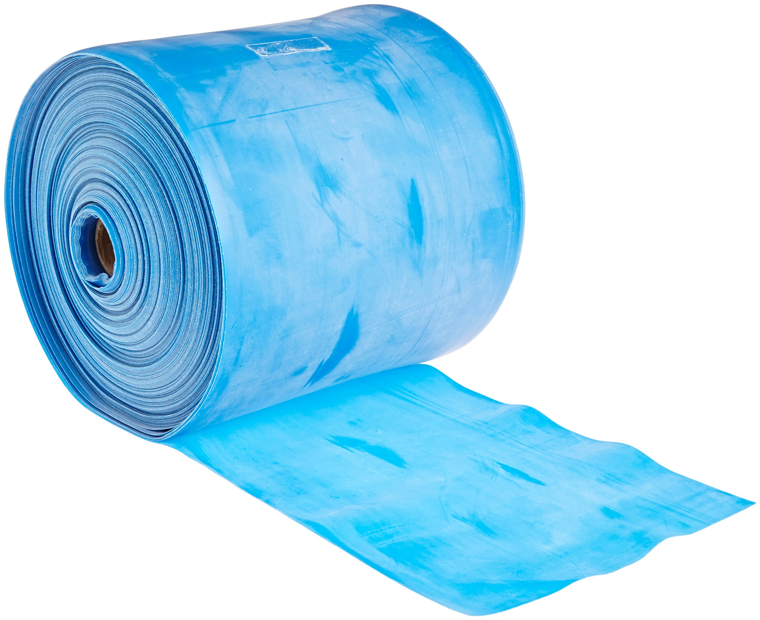 Cando 10-5224 Blue Low Powder Latex Exercise Band, Heavy Resistance, 50 yd Length