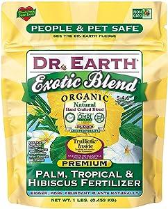 Dr. Earth Organic & Natural MINI Exotic Blend Palm, Tropical & Hibiscus Fertilizer ( 1 lbs )