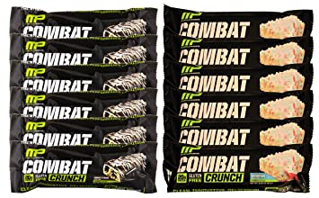 Muscle Pharm Combat Crunch Protein VFPqF Bar 6 Cookies N Cream And Birthday Cake