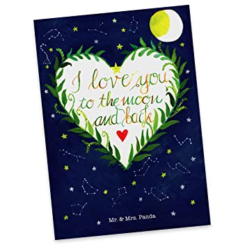 i love u sprüche englisch Amazon.de: Mr. & Mrs. Panda Postkarte Love u to the moon & back  i love u sprüche englisch