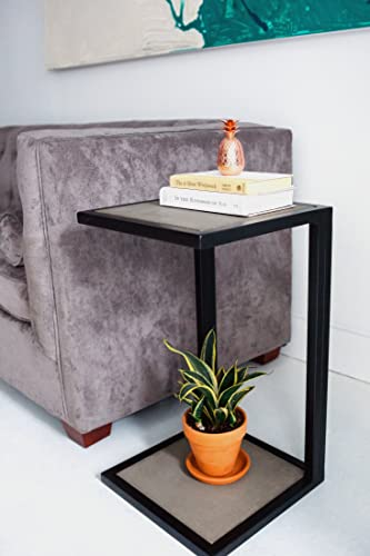 C Table Modern Concrete Industrial End Table Night Stand Home Bed Side  Furniture Side Table Free