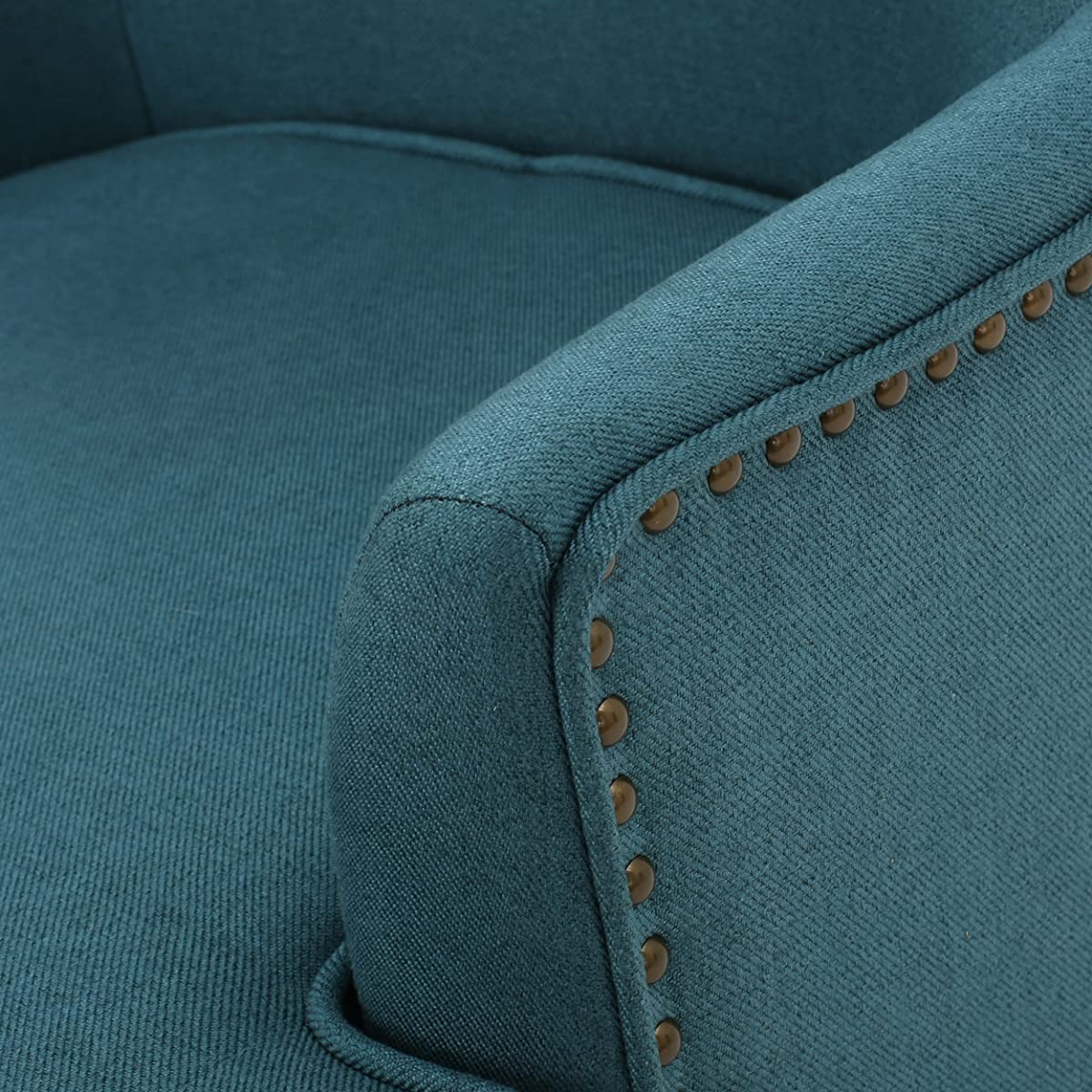 Congaree High Back Teal Fabric Wing Chair