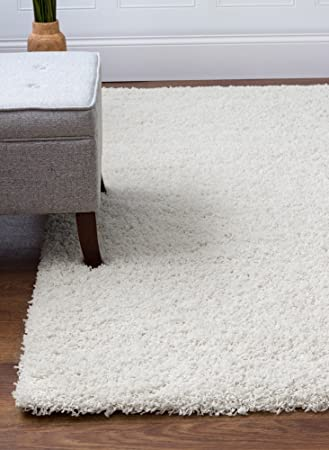 Amazon Com Super Area Rugs 5 X 7 White Shag Rug For Open Spaces