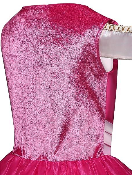 New front Disfraz Princesa Aurora Vestido para Niñas Bella ...