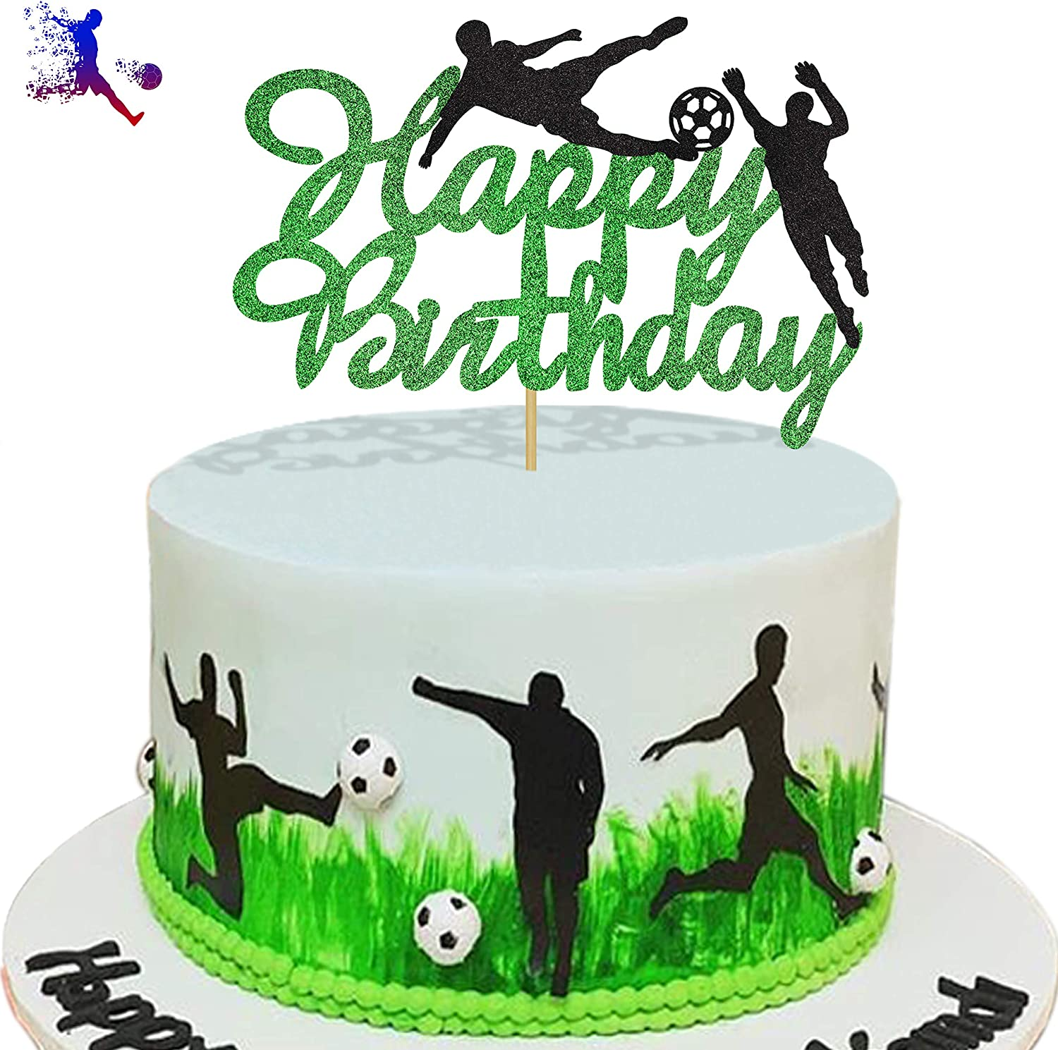 Awesome Amazon Com Kapokku Glitter Play Soccer Cake Topper Football Sport Personalised Birthday Cards Paralily Jamesorg