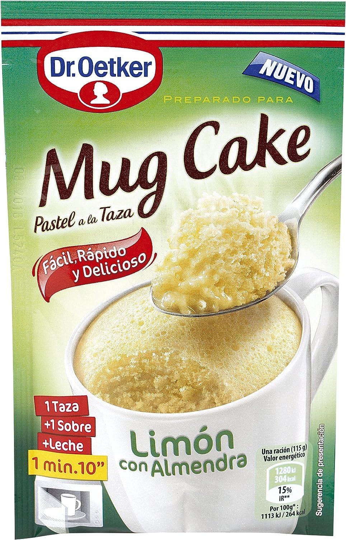 DR. OETKER mug cake de limón con almendra estuche 65 gr: Amazon.es ...