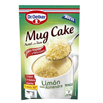 Dr. Oetker Mug Cake Lemon with almond Instant Cake Mix Chocolate and Hazelnuts
