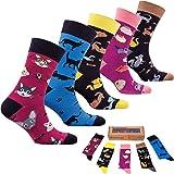 socks n socks Hombres 5 pares Lujo Colorido Algodón Divertirse Guay Novedad Vestido…