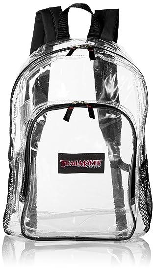 Trailmaker Boys' Clear Backpack, Black
