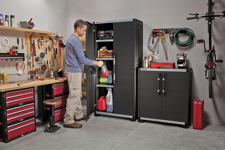 Keter XL Pro Tall Cabinet, Black, 88x45x187 cm: Amazon.co.uk ...