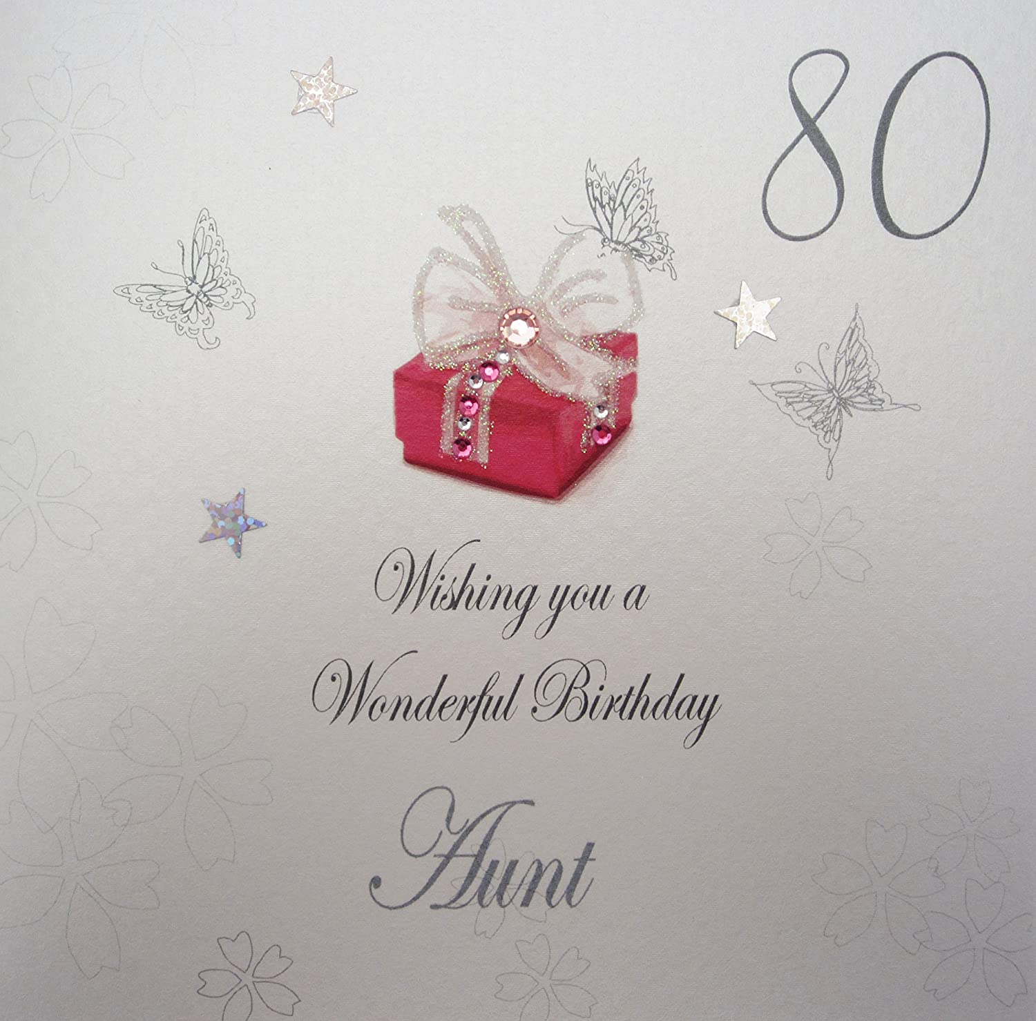Auntie 80th Birthday Card with removable Laminate Amazoncouk – 80 Birthday Card