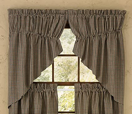 Park Designs Fed Star Lined Gathered Swag, 72 x 36