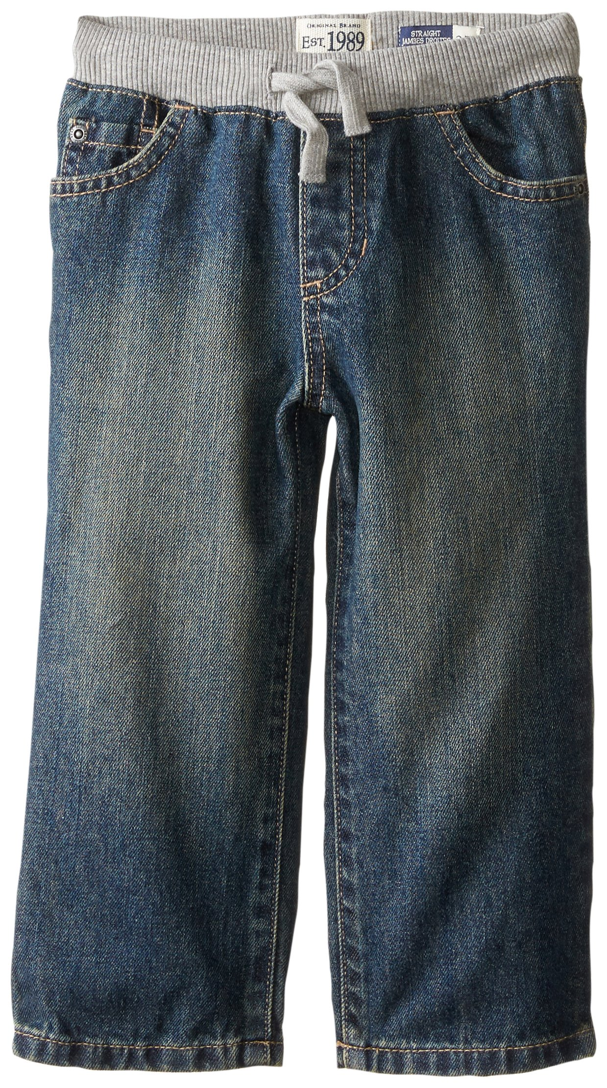 The Children's Place Little Boys and Toddler Pull-On Jean, Aged Stone, 3T