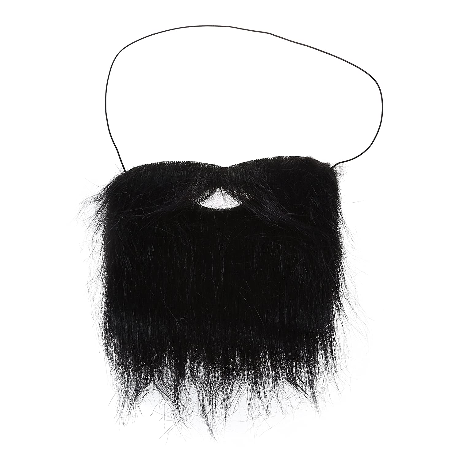 Cosplay Fake Beards - SODIAL(R)2pcs Halloween Costume Fake Beards with Strap Black 079279