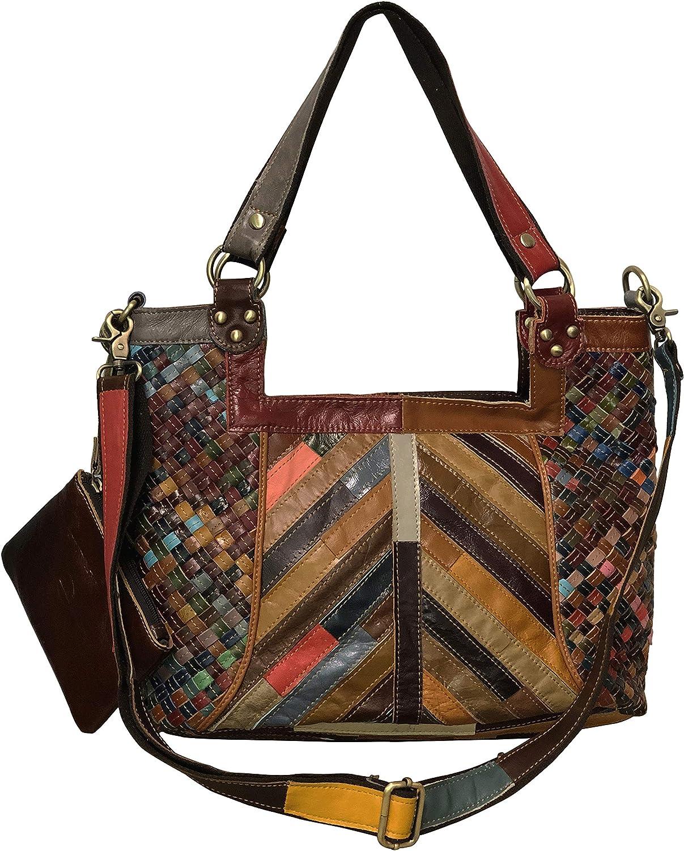 Amerileather Hazelle Leather Handbag/Shoulder Bag (1703-023)
