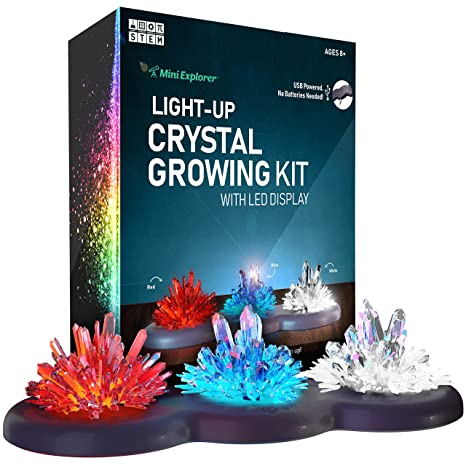 Amazon Com Mini Explorer Light Up Crystal Growing Kit Grow Your