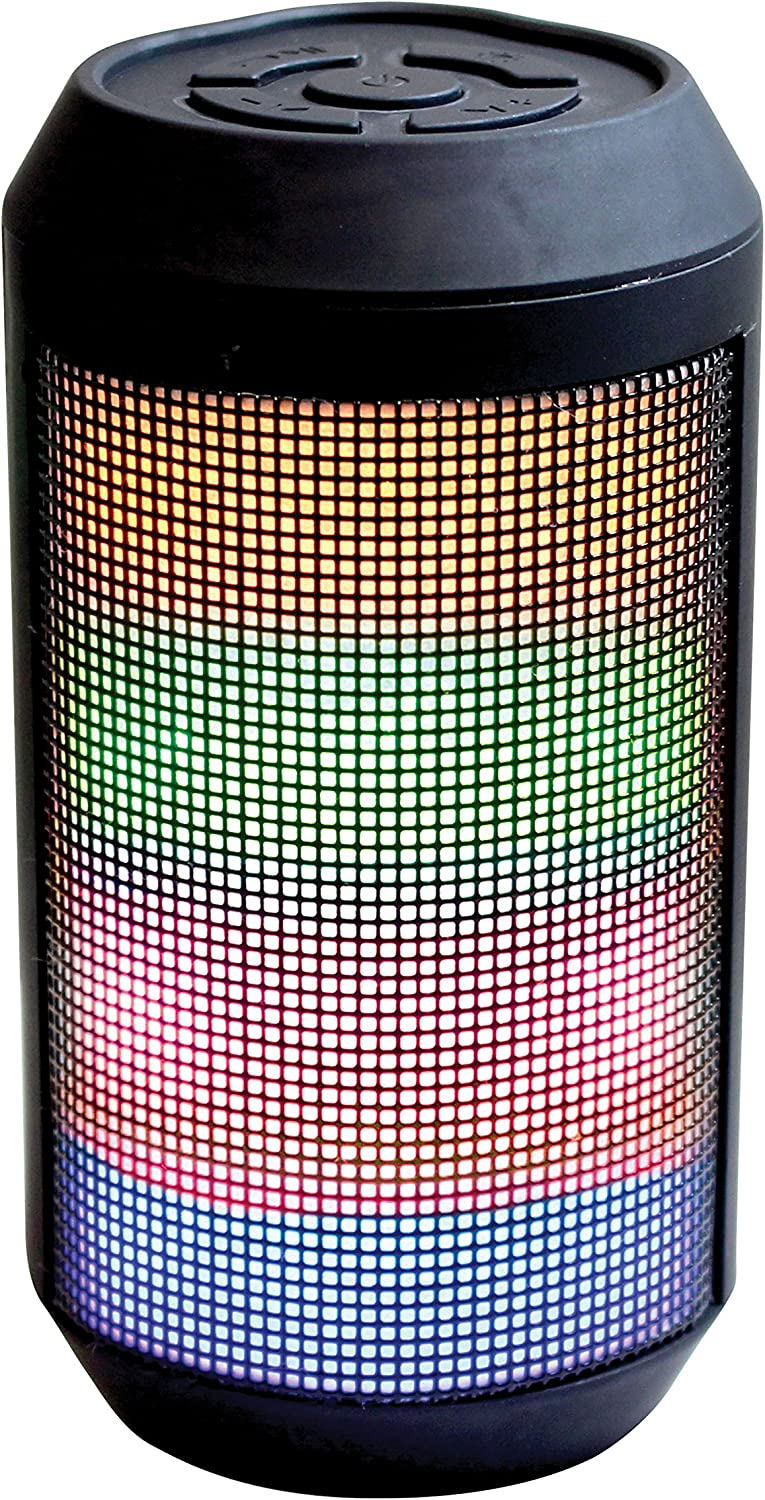 Craig ELECTRONICS CMA3611 Portable Speaker with Color Changing Lights and Bluetooth Wireless Technol