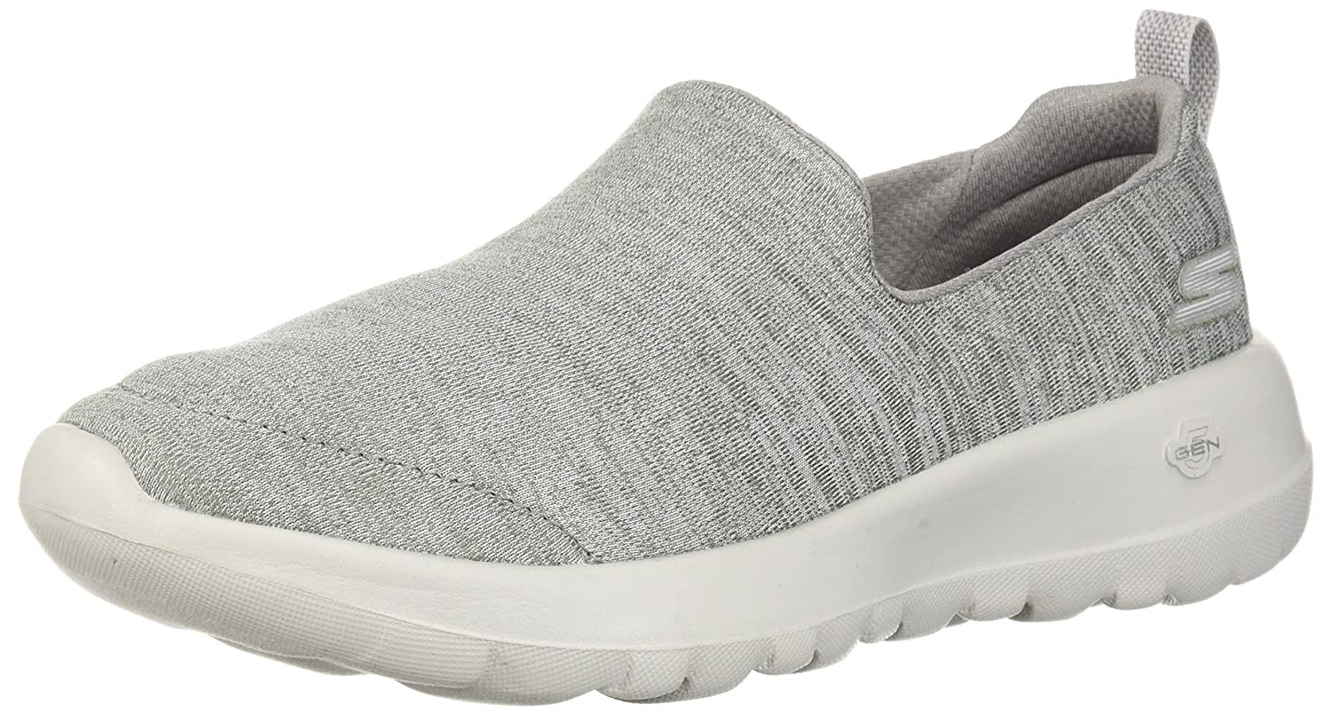 Skechers Women's Go Walk Joy-15611 Wide Sneaker B07537WXW5 8 W US|Gray