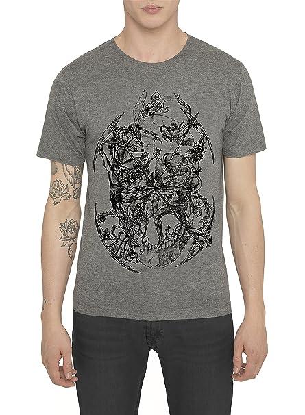 Camisetas Blancas Negras Grises de Algodón para Hombre, T Shirt Designer Fashion Rock con Estampado