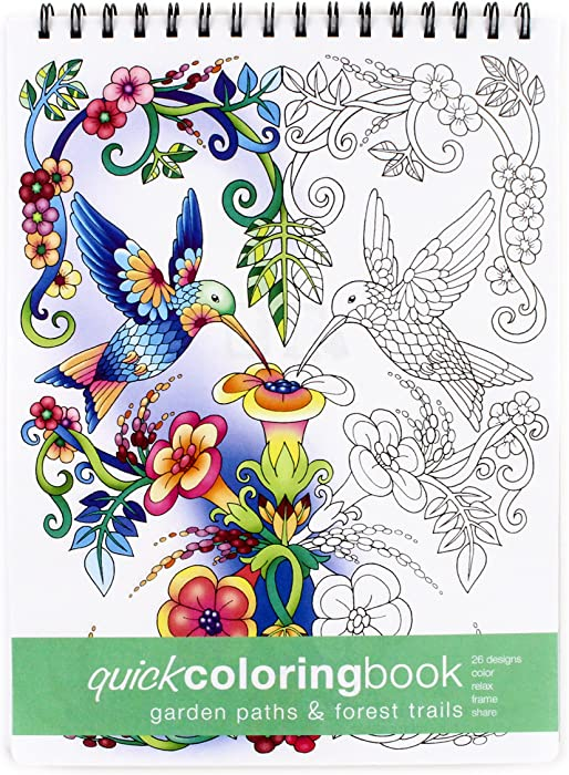 Top 9 Garden Paths And Forest Trails Coloring Book