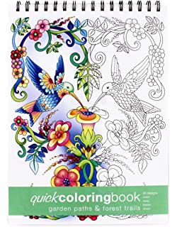 Garden Paths Forest Trails Quick Coloring Book Large 862 X 1175 Inches
