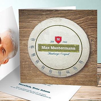 Einladung 50 Geburtstag Bierdeckel 30 Karten Quadratische