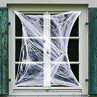 ArtCreativity Telaraña decorativa para Halloween, juego de 12 telarañas superelásticas con araña de plástico, decoración…