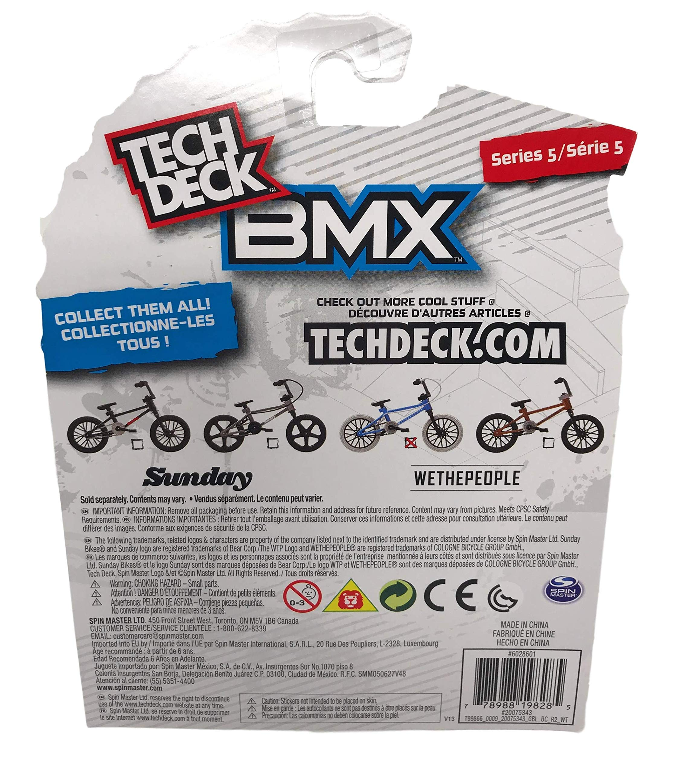 Nozlen Toys Bundle: Tech Deck Series 5 BMX Bikes Set of 4 - WeThePeople and Sunday with Bonus Bag by Nozlen Toys (Image #6)