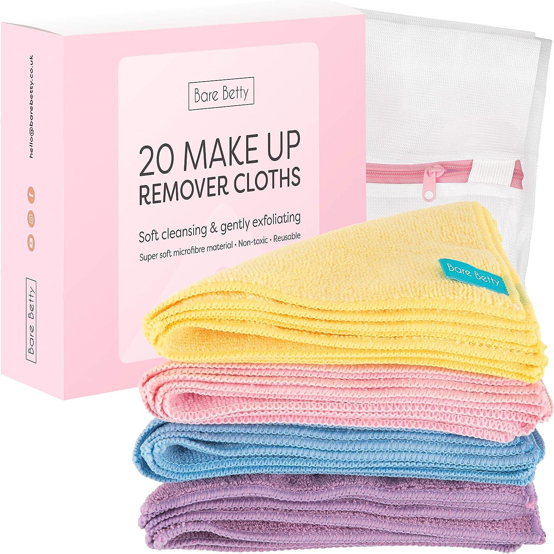 20 x toallitas desmaquillantes de microfibra lavables | Pack de ...