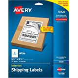 "Avery Internet Shipping Labels with TrueBlock Technology 5-1/2"" x 8-1/2"", Pack of 20 (18126)"