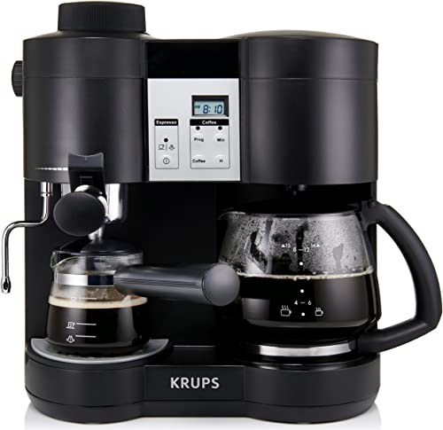 Krups-XP160050-Coffee-Maker-and-Stainless-Espresso-Machine-Combination