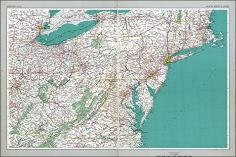 Mid Atlantic States Map.Amazon Com 20x30 Poster Map Mid Atlantic States New Jersey
