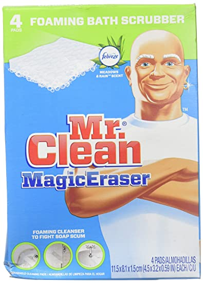 Amazon Com Mr Clean Magic Eraser Foaming Bath Scrubber 4 Pk