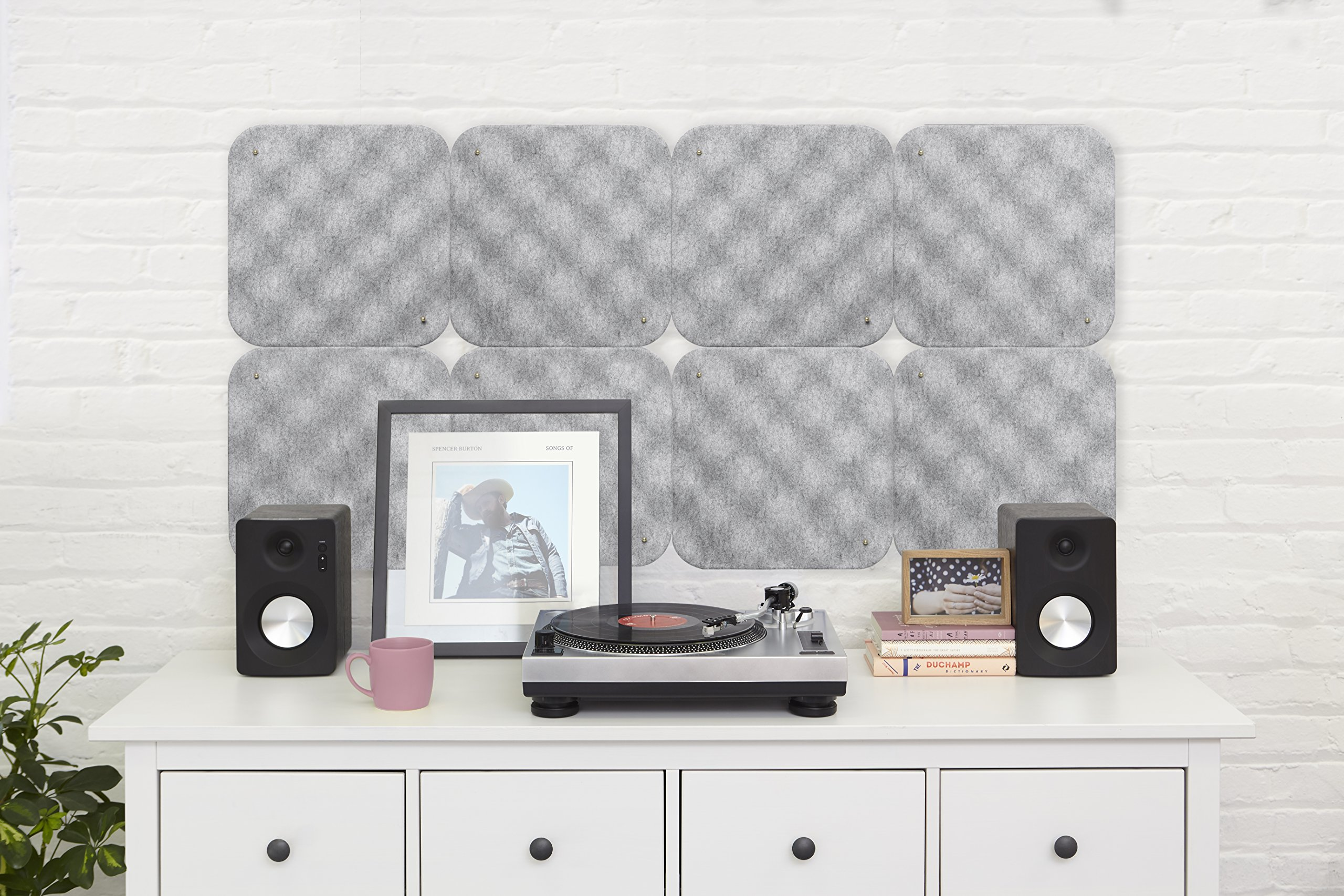 Umbra Hush Acoustic Wall Tiles, Grey by Umbra