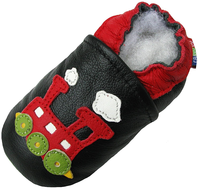 Carozoo Train Noir (Train Black C1), Chaussures Enfant/Bébé Semelle Souple Garçon