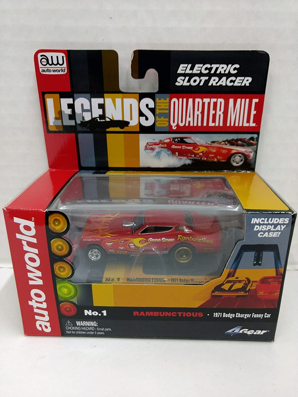 Auto World sc285 Legends of the Quarter Mile Rambunctious 1971 Dodge Charger Funny Car HO Scale Electric slot car B078JZ8VCZ