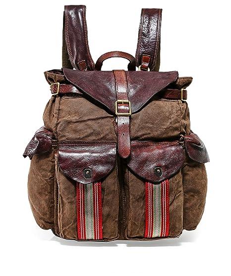 neuer Stil & Luxus Sonderteil kaufen Amazon.com | Campomaggi Men's Natural Canvas Backpack Multi ...