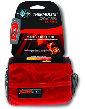 Sea To Summit Thermolite Reactor Extreme - Sábana para saco de dormir, color rojo,