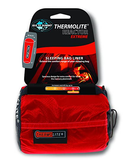 ad7362d2d Amazon.com : Sea to Summit - Reactor Extreme - Thermolite Mummy Liner, One  Size, Red : Sleeping Bag Liners : Sports & Outdoors