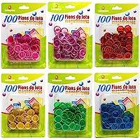 Lotoquine - 100 Pions de loto magnétiques - Coloris aléatoire