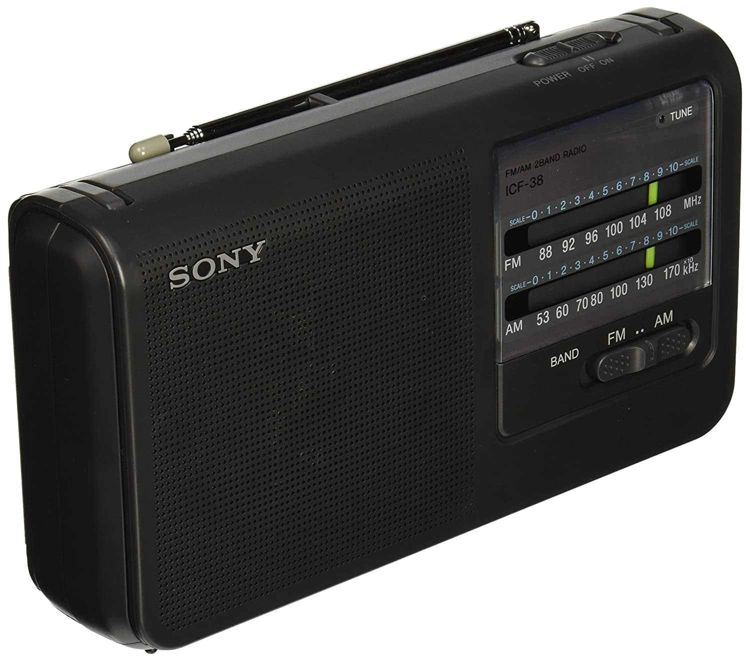 Amazon sony icf38 portable amfm radio black home audio amazon sony icf38 portable amfm radio black home audio theater sciox Image collections