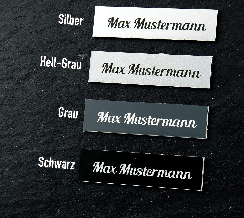 Gr/ö/ße/_1 Schriften und Gr/ö/ße bis maximal 70x25mm Namensschild Briefkastenschild T/ürschild in vielen Farben in Kunststoff Acyl
