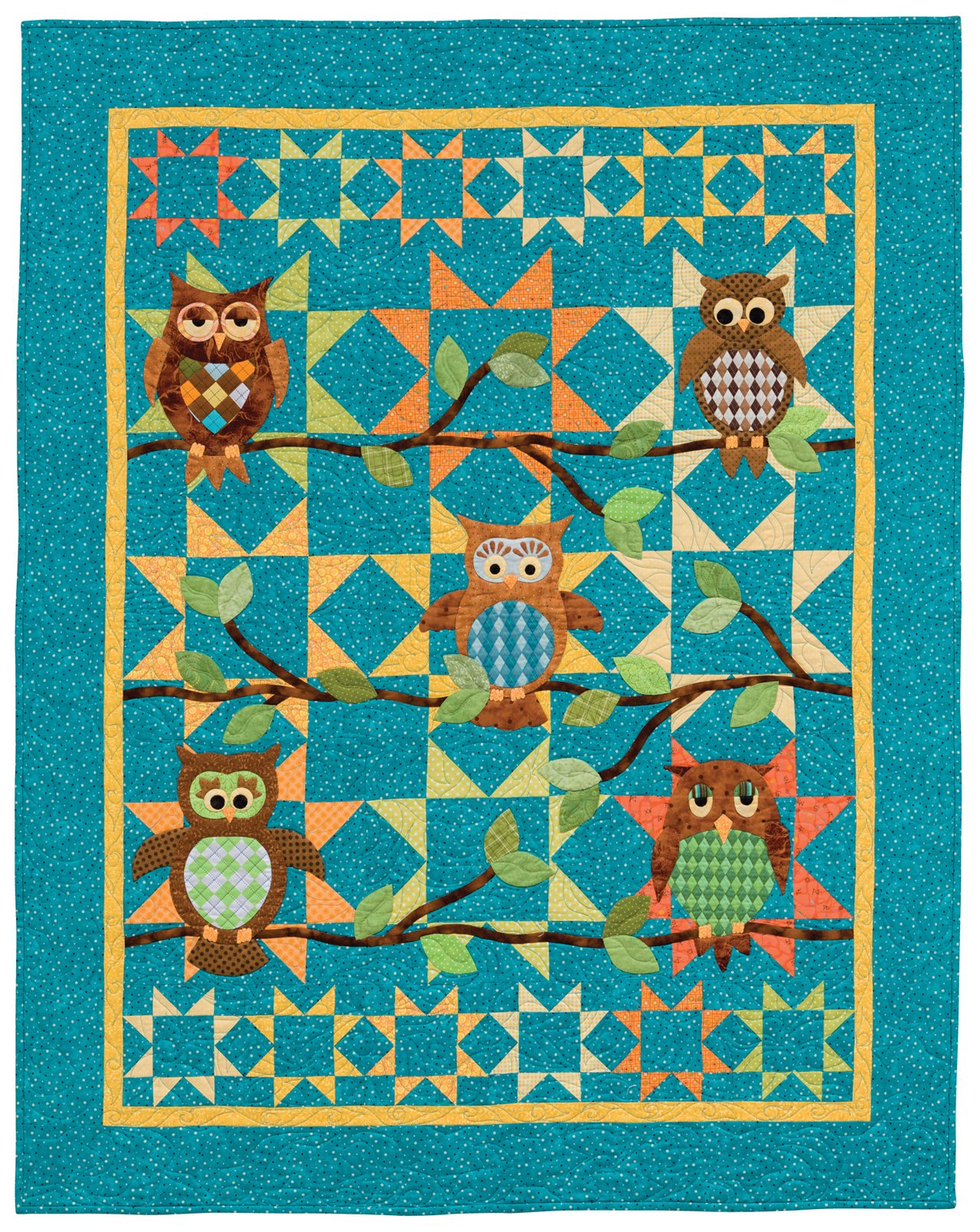 flowers  Crib quilt with appliqued animals Baby Quilt with appliqued animals  Newborn baby quilt with rabbit bird flowers and hearts