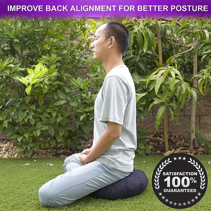 Amazon.com: Buckwheat Hull - Cojín redondo de meditación ...