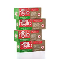 Hello Oral Care ADA Approved Fluoride Kids Toothpaste, Vegan & SLS Free, Natural...