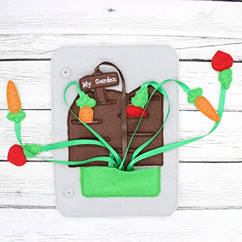 Busy Toddler Educational Learning Toy My Garden With Ribbons Felt Quiet Book Page