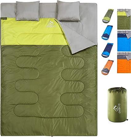 oaskys Camping Sleeping Bag Spring ... 3 Season Warm /& Cool Weather Summer