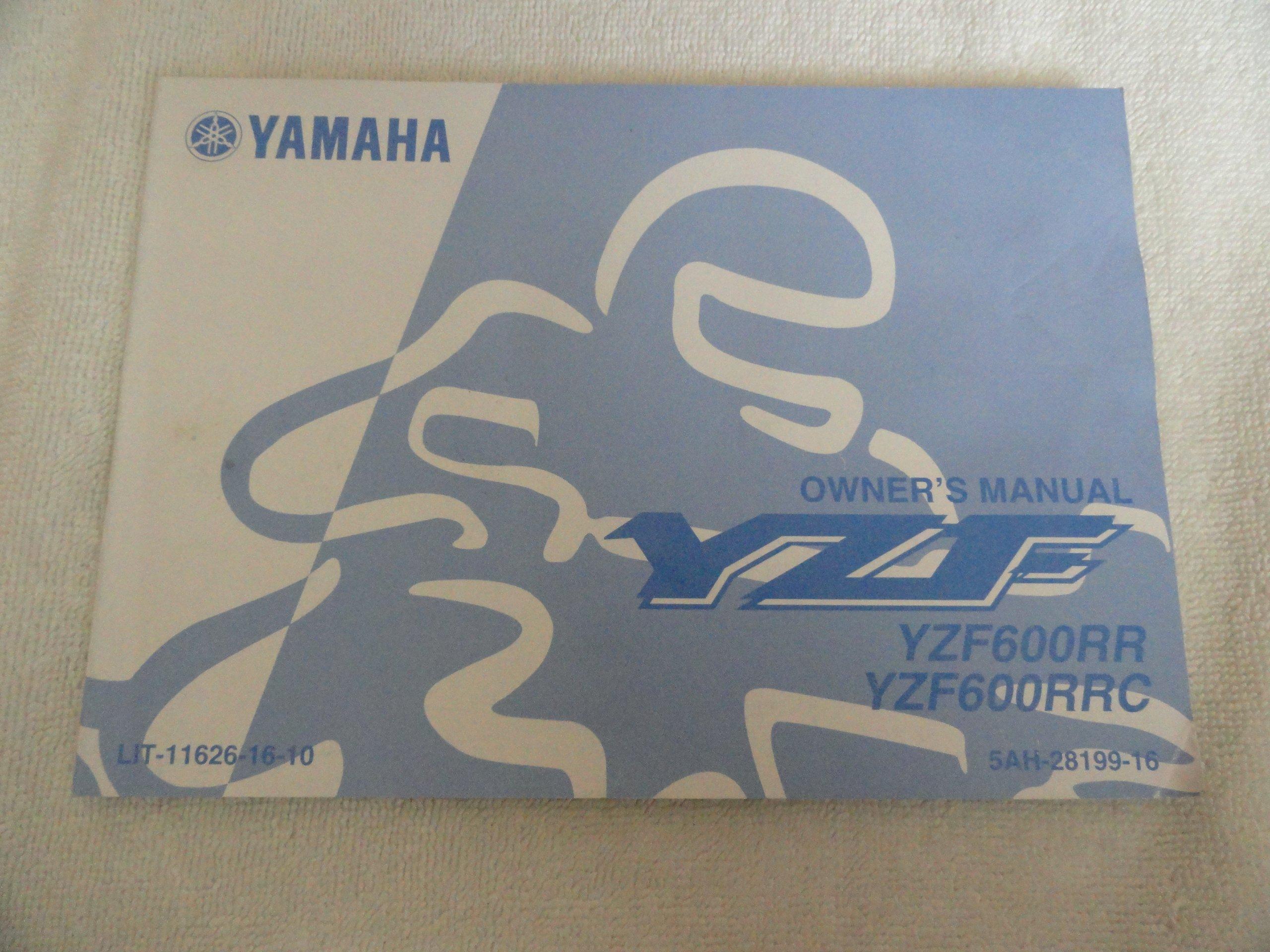 2002 2003 Yamaha YZF600 Owners Manual YZF 600 RR & RRC: Yamaha: Amazon.com:  Books
