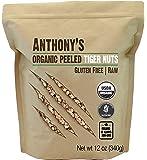 Anthony's Organic Peeled Tiger Nuts, 12 oz, Raw, Gluten Free, Non GMO, Paleo Friendly