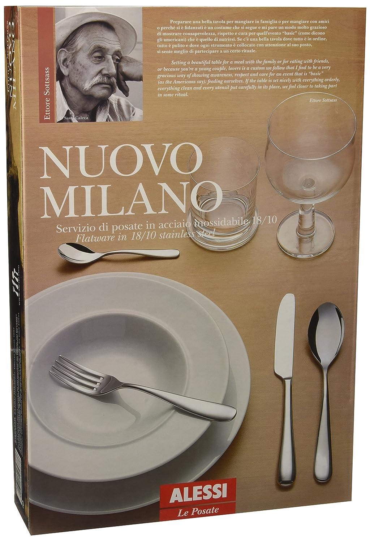 Alessi 5180S24M Nuovo Milano - Juego de cubertería (24 piezas): Amazon.es: Hogar